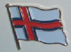 Faroe Islands Country Flag Enamel Pin Badge